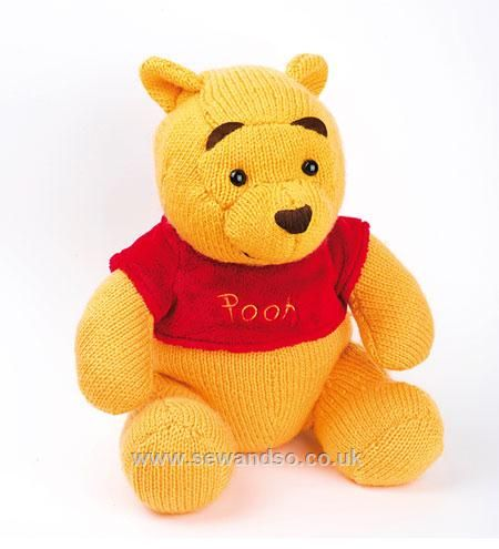 Cuddle Pooh Knitted Toy Kit Knitting Knitting Patterns Winnie