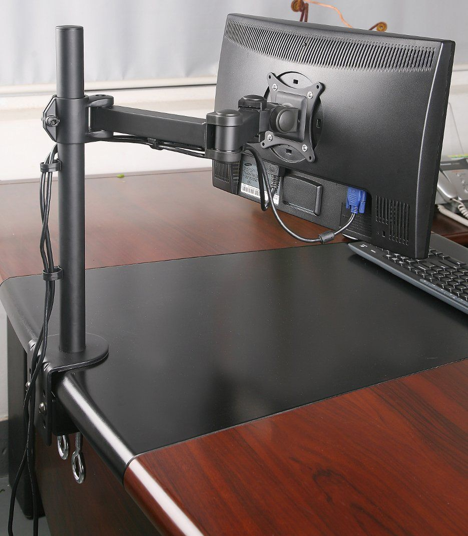 Amazon Com Single Lcd Monitor Desk Mount Stand Fully Adjustable