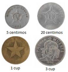 Monedas Peso Cubano