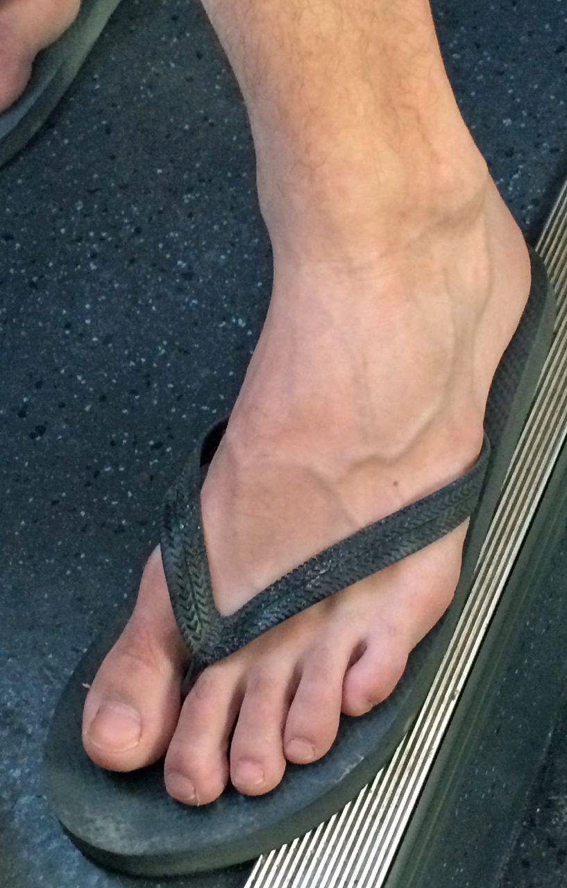 Pin By Fred Flinstone On Flip Flops Male Feet Barefoot