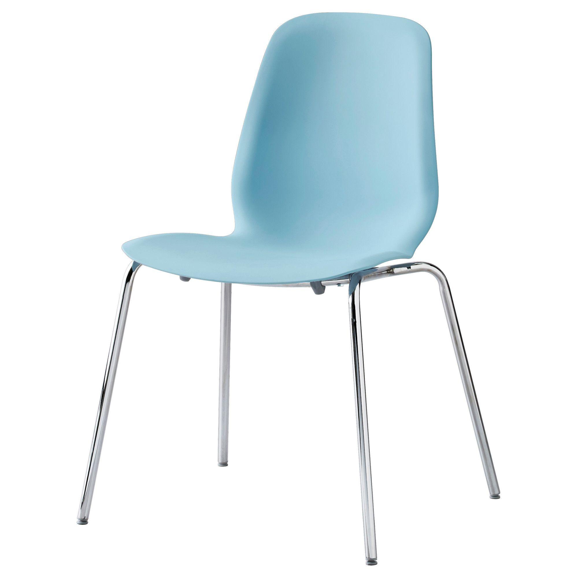 LEIFARNE Chair, light blue, Broringe chrome plated | Die küche, Ikea ...