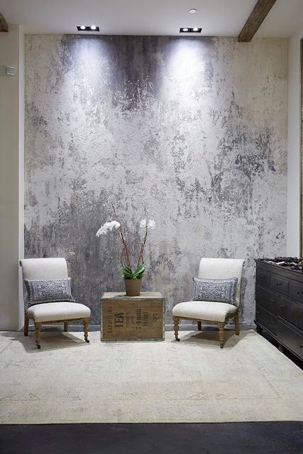 Plaster over metallic paint finish Decorating With Faux Finishes