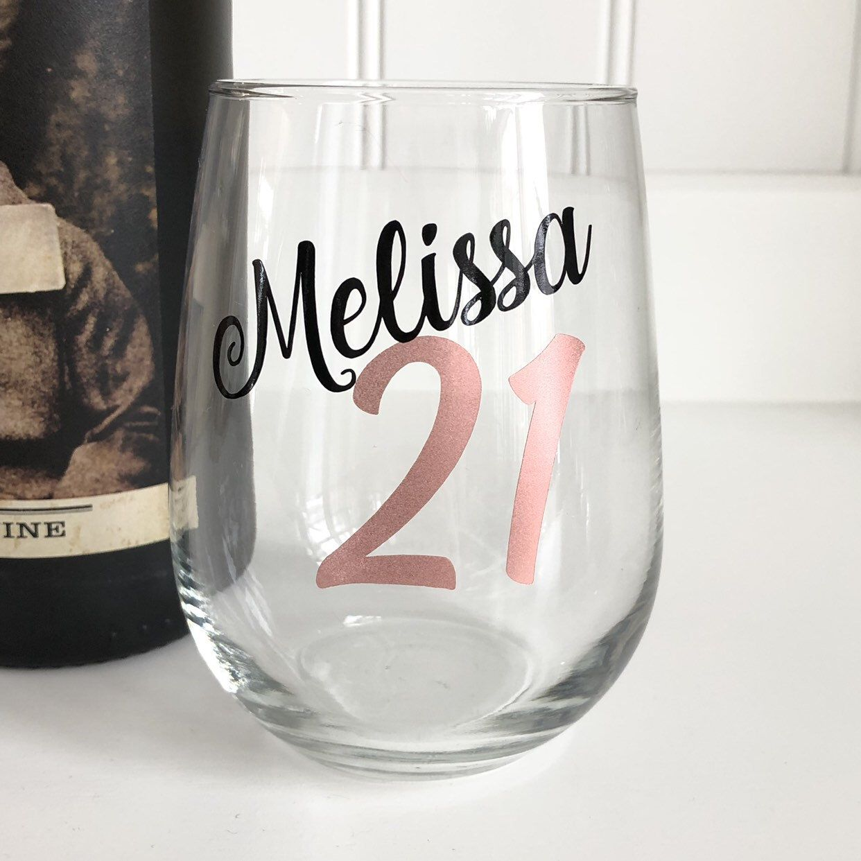 21st Birthday Wine Glass Personalized Gift Finally 21 For Her Legal Cheers To