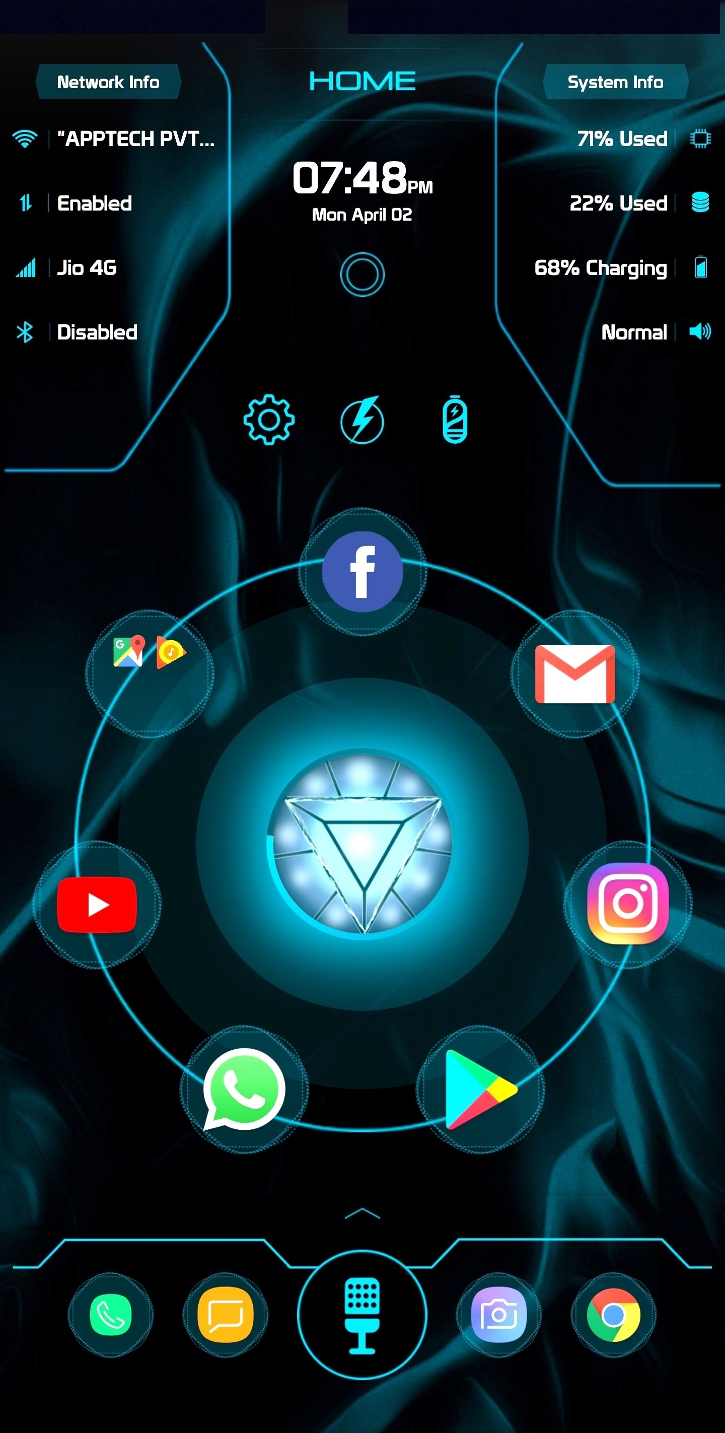 Jarvis clock for android