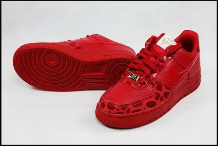 the best attitude 42490 944ca Nike Air Force 1 07 Valentine Edition All Red Shoes Red Womens Sneakers