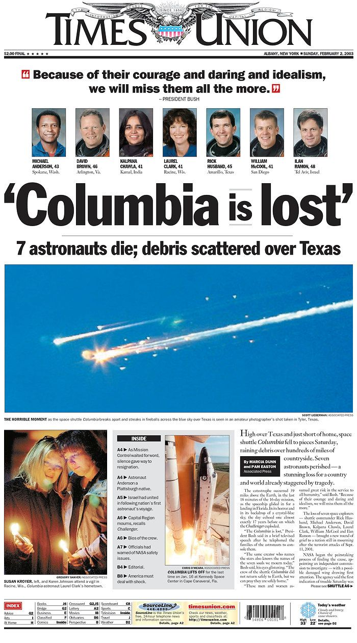 space shuttle columbia news coverage - photo #15