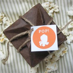 Use origami to make your own microwave popcorn bags!  A pop up card that really pops.