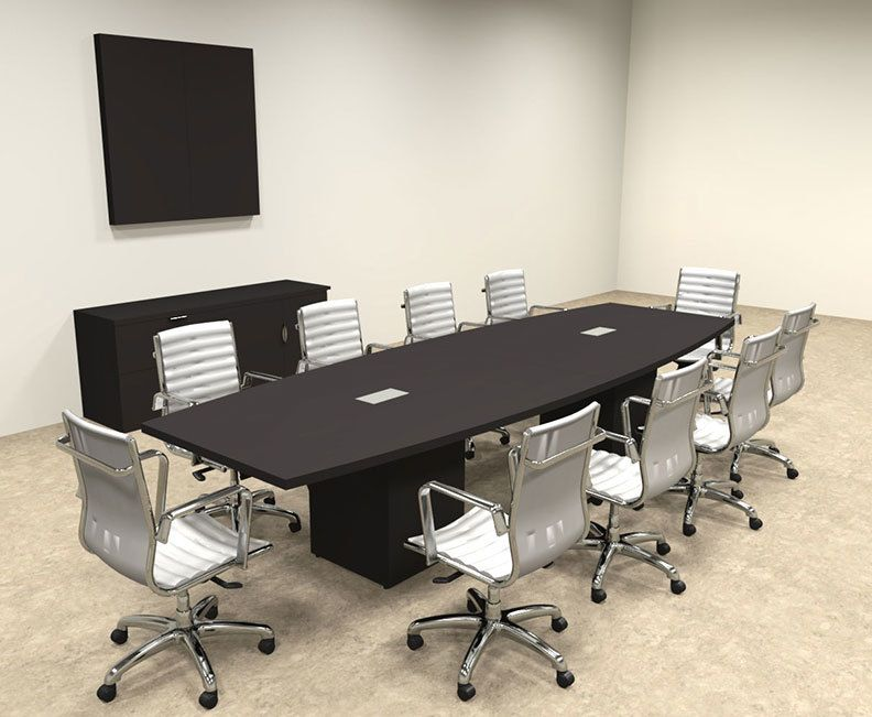 Modern Boat Shaped Cube Leg 12 Feet Conference Table Of Con Cq24 In 2020 Conference Table Table Furniture