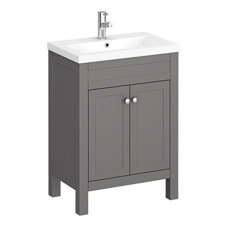 Trafalgar 610mm Grey Vanity Unit Victorian Plumbing Uk Grey