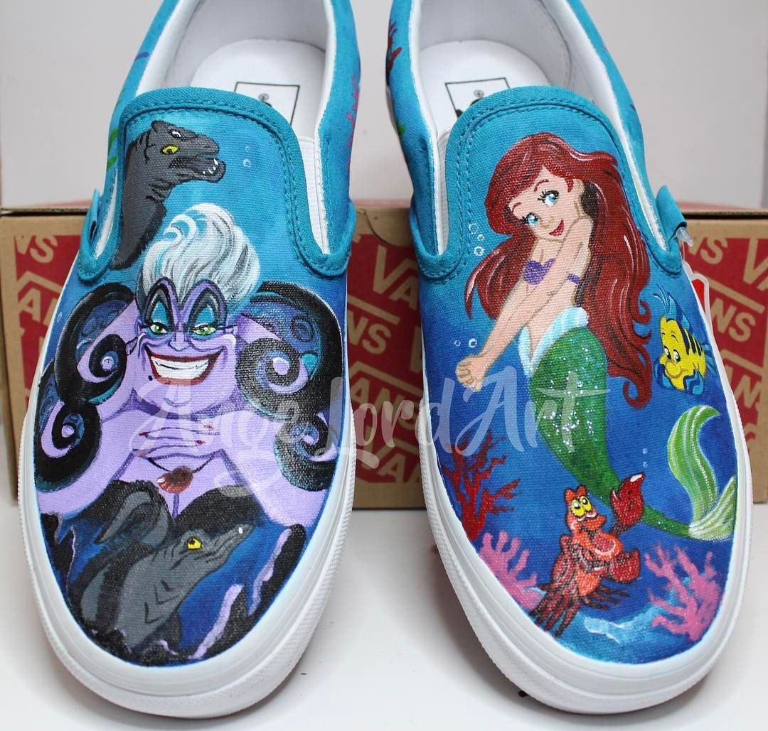 0d3c31baaa98 Pin by Ange Lord Art Custom Shoes   Apparel on Little Mermaid ...