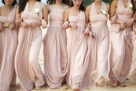 pink and champagne bridesmaid dresses | Gommap Blog