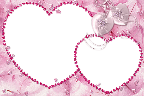 Pink Heart Transparent Frame | Adobe photoshop | Pinterest ...