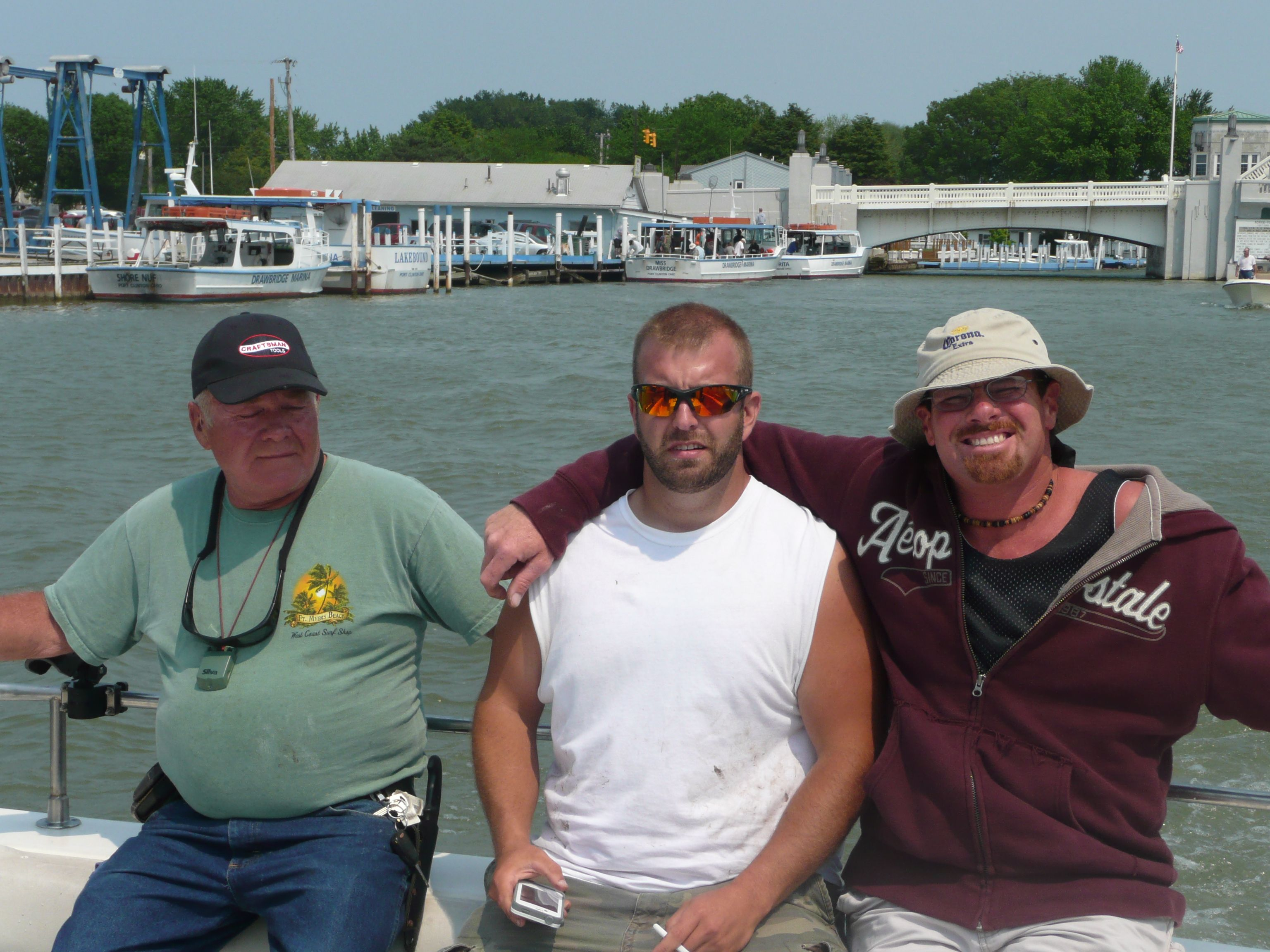 fishing buddies paul sr. zach and paul