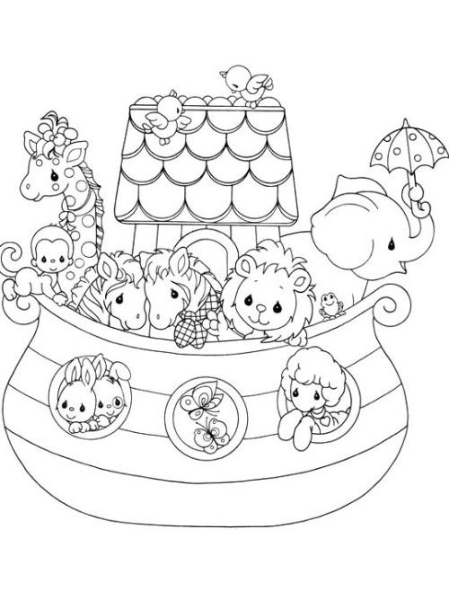 Precious Moments And Her Friends Funny Coloring Pages