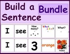 Build a Sentence BUNDLE #Autism For more resources follow https://www.pinterest.com/angelajuvic/autism-special-education-resources-angie-s-tpt-sto/