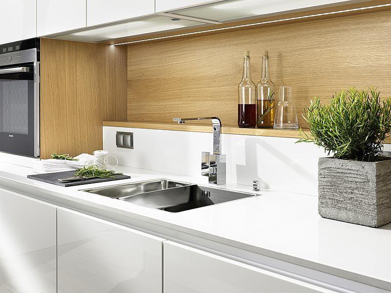 Breitschopf macht ihre Küche → Linea Foresto Weiß Hochglanz - küchenzeile weiß hochglanz