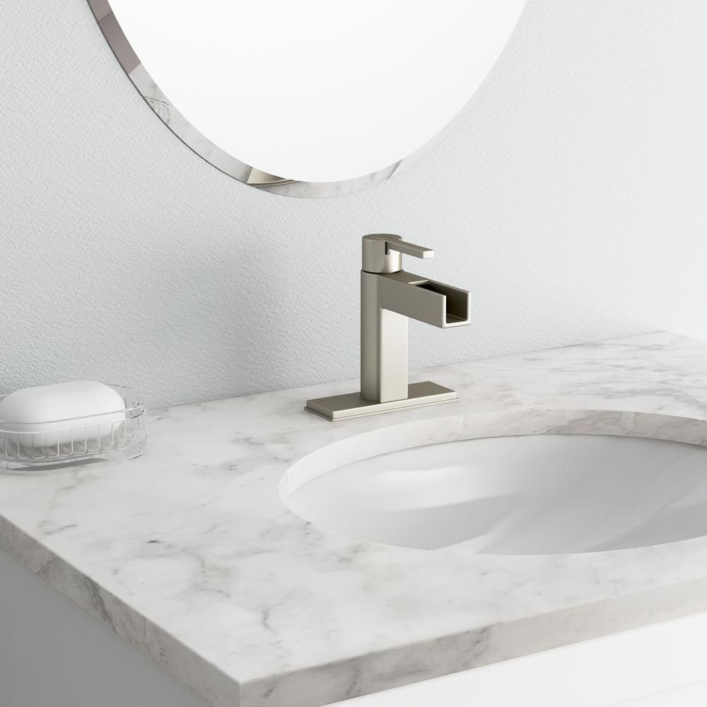 Pfister Vega Single Hole Singlehandle Bathroom Faucet In Brushed Amazing Pfister Bathroom Faucet Inspiration Design