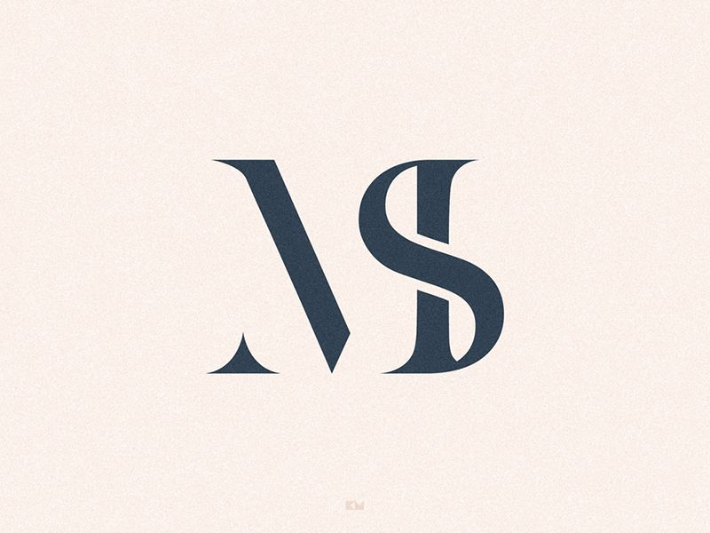 Ms Initials Logo Monogram Logo Letter Logo Design