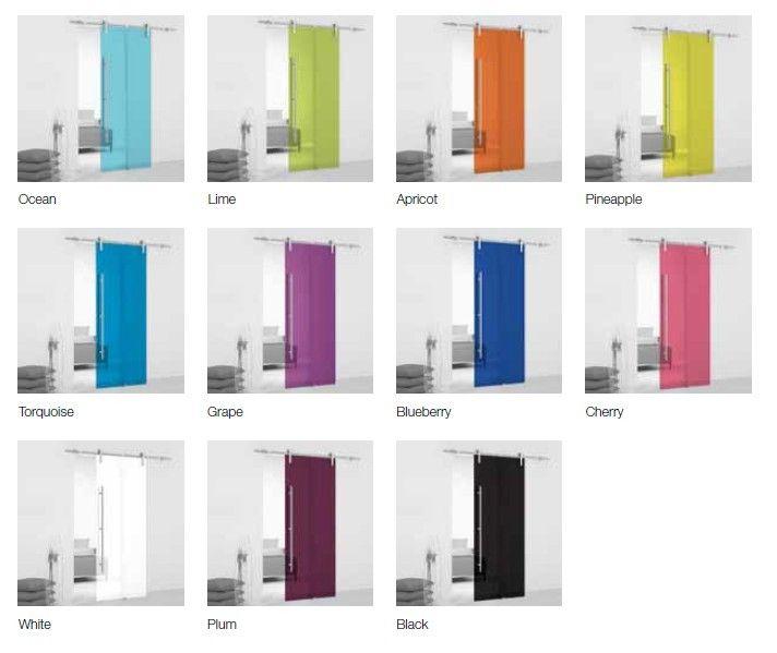 puerta de cristal corredera vista system modelo color o translucido de cm