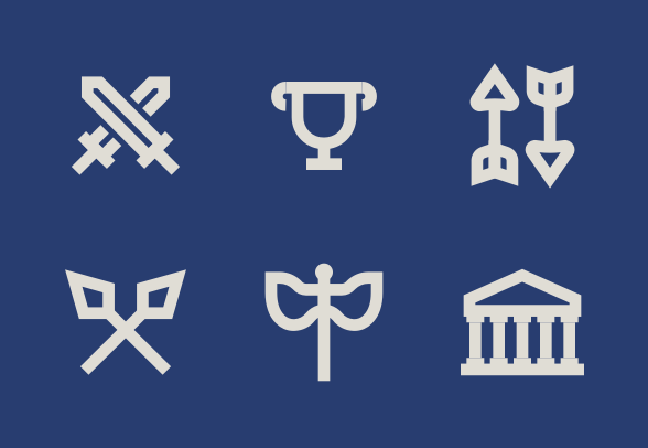 Ancient Greece Icons By Anthony Ledoux In 2020 Ancient Greece Greece Ancient