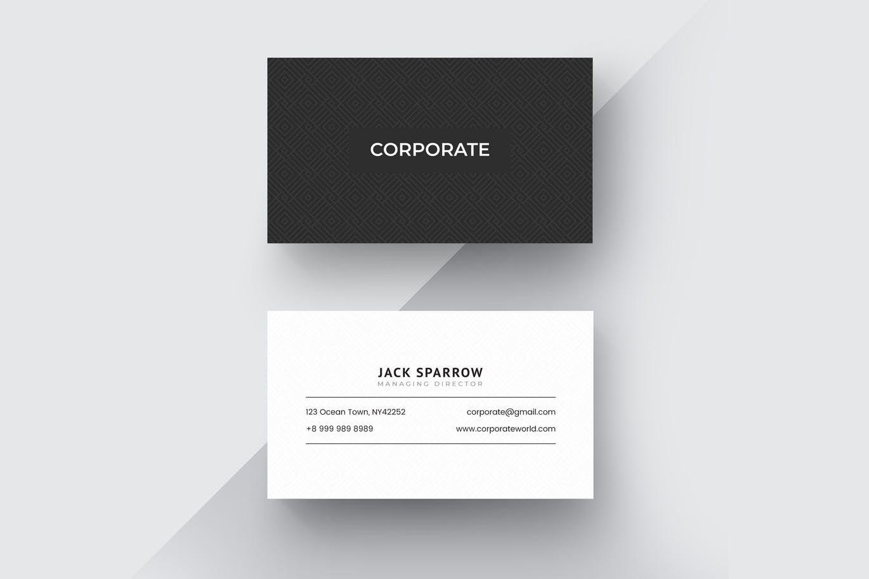 Corporate Business Card Template Ai Eps