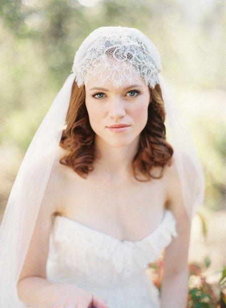 Preciosa colección de velos de novia de la firma Sibo Designs.
