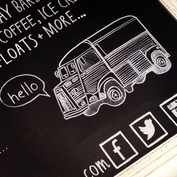 Citroen H Van Chalkboard | Martha's Tea Party