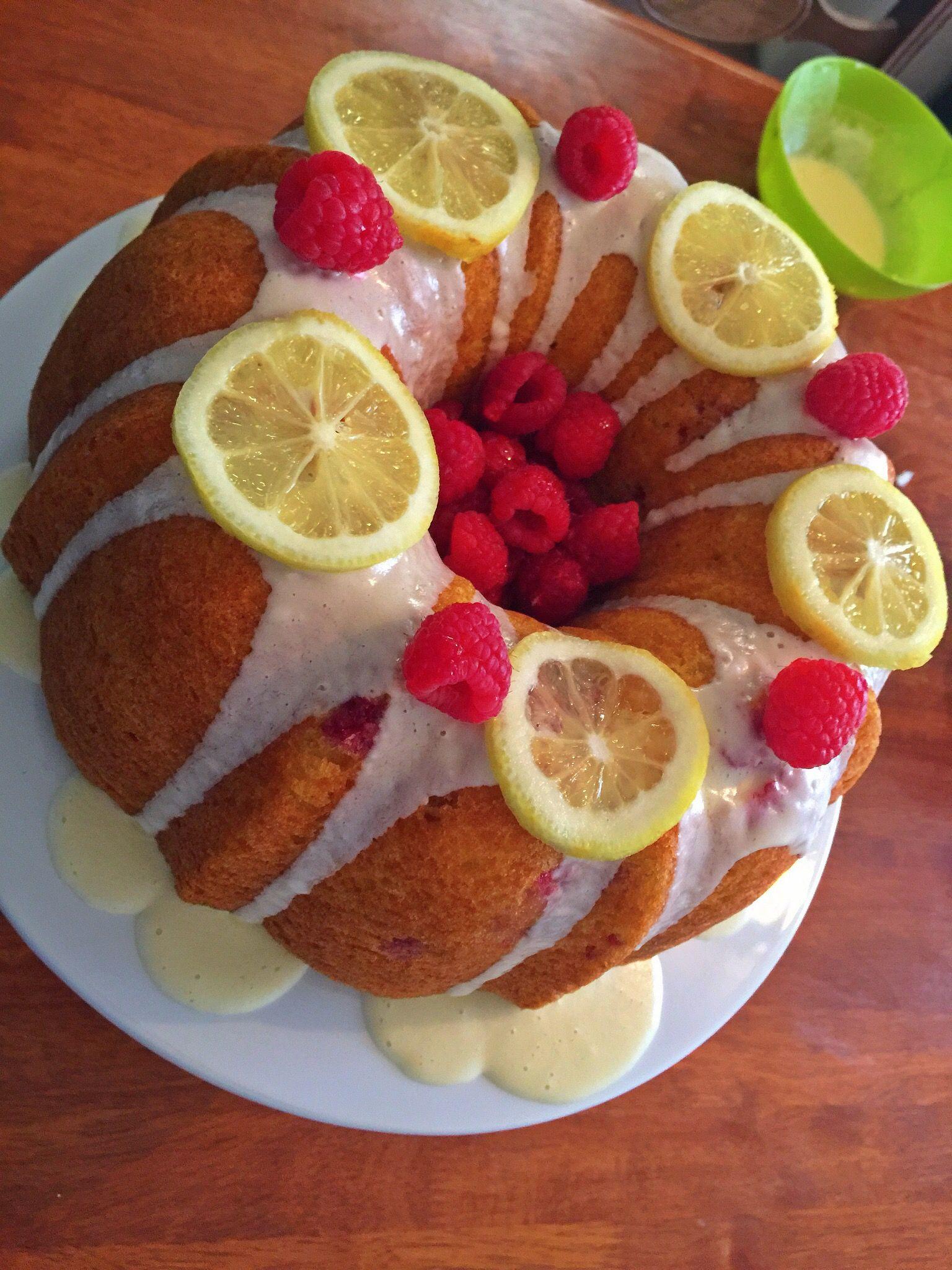 Lemon raspberry bundt cake dessert for dinner desserts
