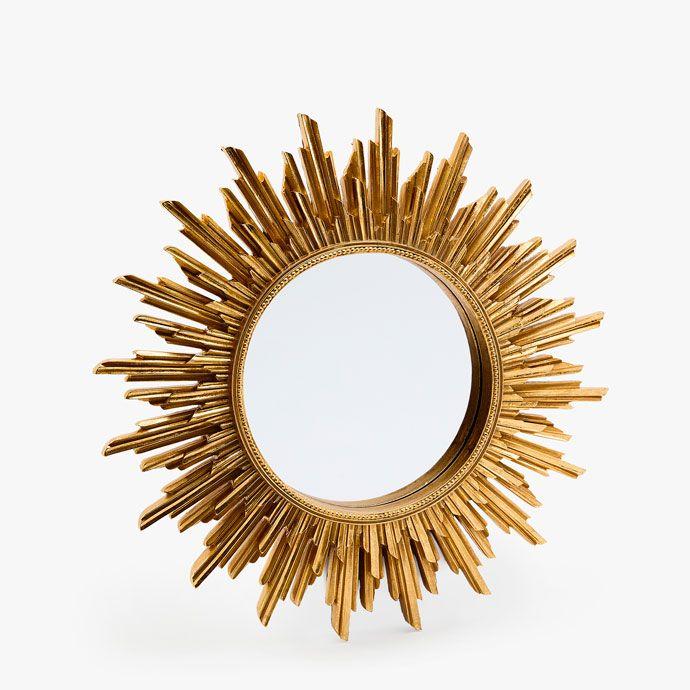 sun shaped mirror zara home hungary kozraktar sun. Black Bedroom Furniture Sets. Home Design Ideas
