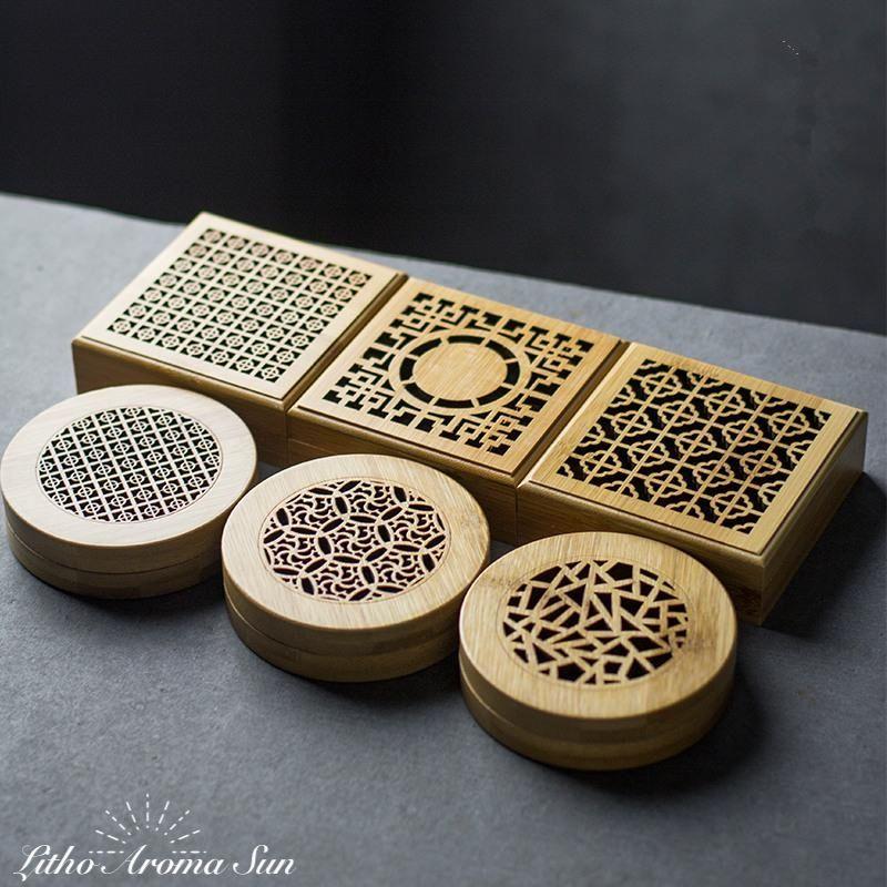 Cette Boite A Encens A Ete Realise A La Main Avec Du Bambou Elle Pourra Parfumer Votre Interieur Avec De L Encens Ronds Ou En Spirale Tou Porte Encens