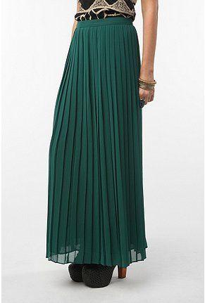 076e6ff4a79e49 Sparkle & Fade Pleated Chiffon Maxi Skirt | Dream Closet | Pleated ...