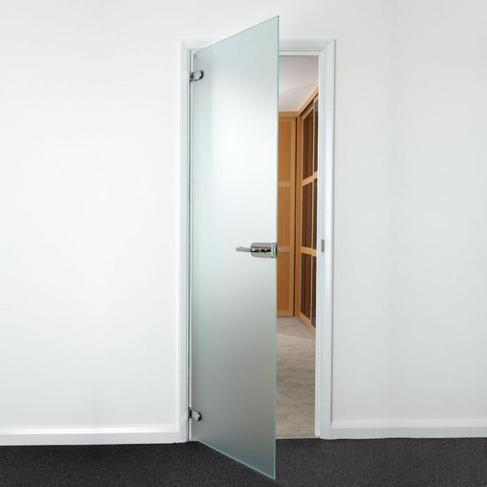Translucent Glass hinged door 754mm x 1960mm Polished Hardware & Translucent Glass hinged door 754mm x 1960mm: Polished Hardware ...