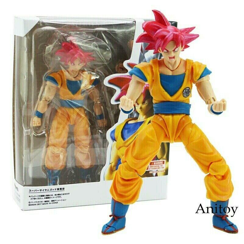 New Bandai S.H Figuarts Dragonball Z Super Saiyan God Super Saiyan Son Goku USA