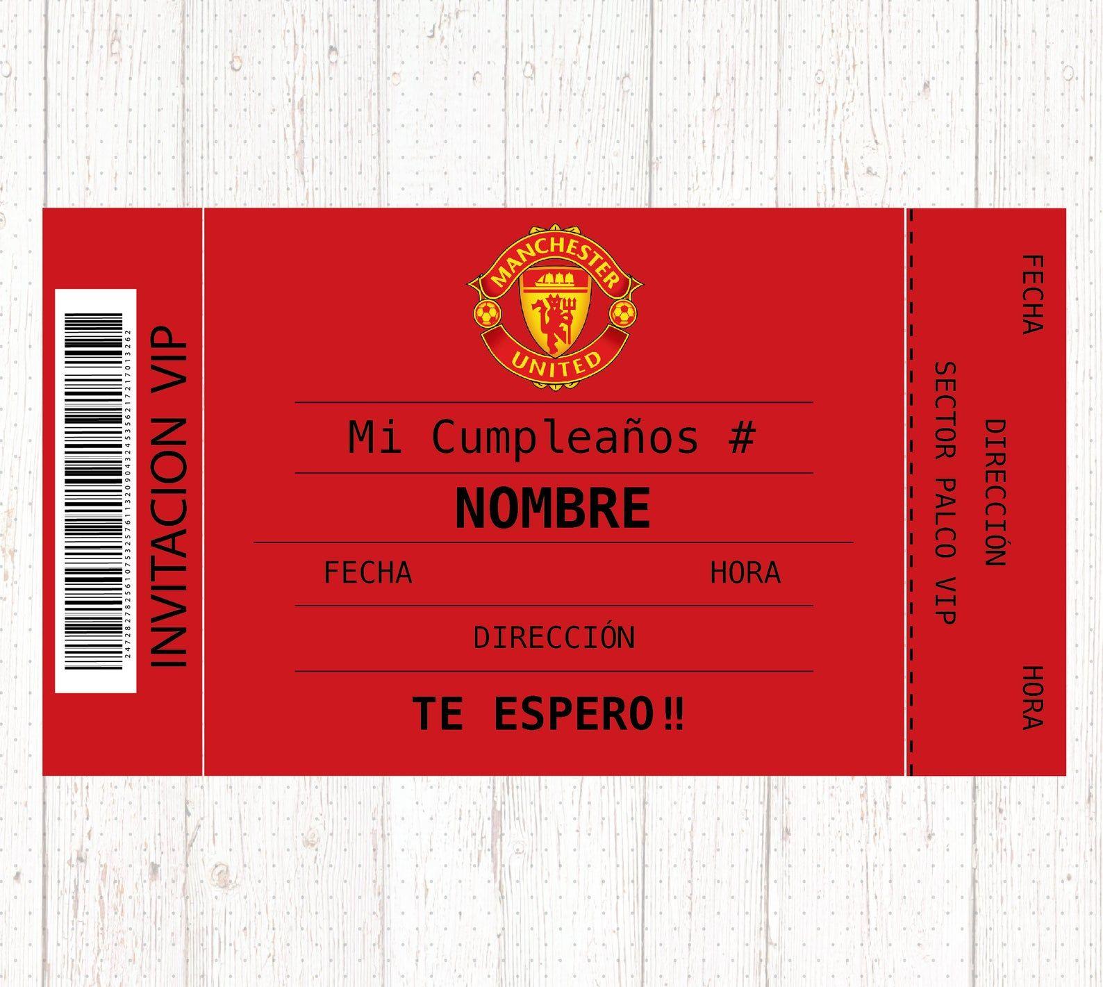 Manchester United Invitation Manchester United Digital Birthday Party Invitation Manchester United Party Ideas Invitaciones Tarjetas De Cumpleanos Invitaciones De Cumpleanos