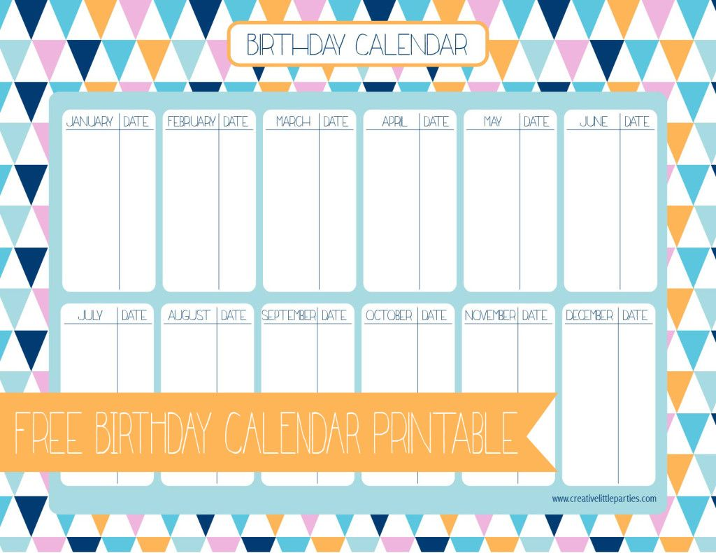 picture regarding Birthday Calendar Printable named cost-free birthday calendar printable -