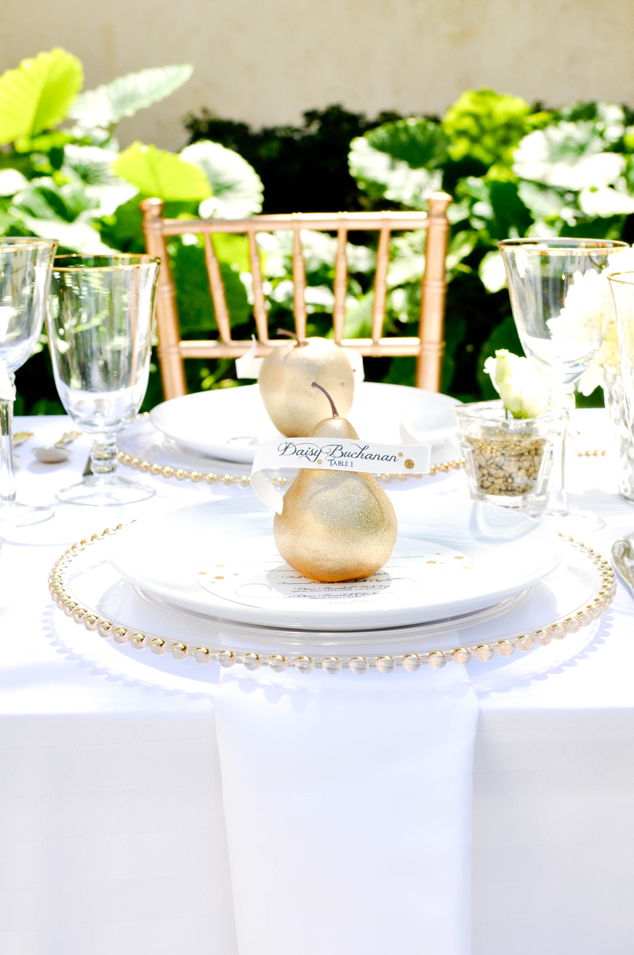 White and Gold Table Setting Brown Eyed Photography and Simply ...
