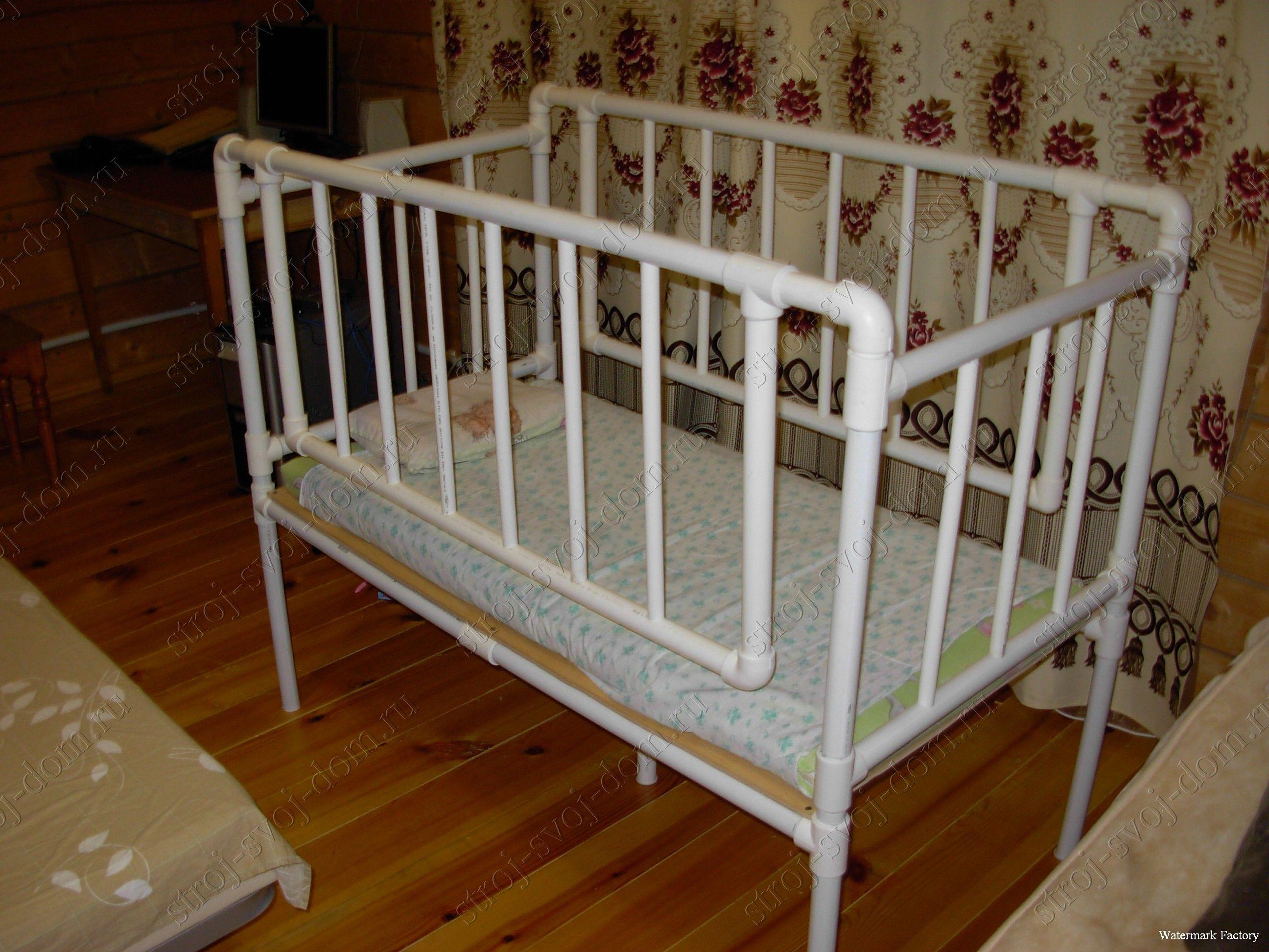 Кроватка для куклы своими руками из труб фото 149