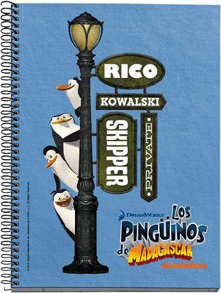 Cuaderno Escolar Pingüinos De Madagascar Pinguinos De Madagascar Pinguinos Madagascar