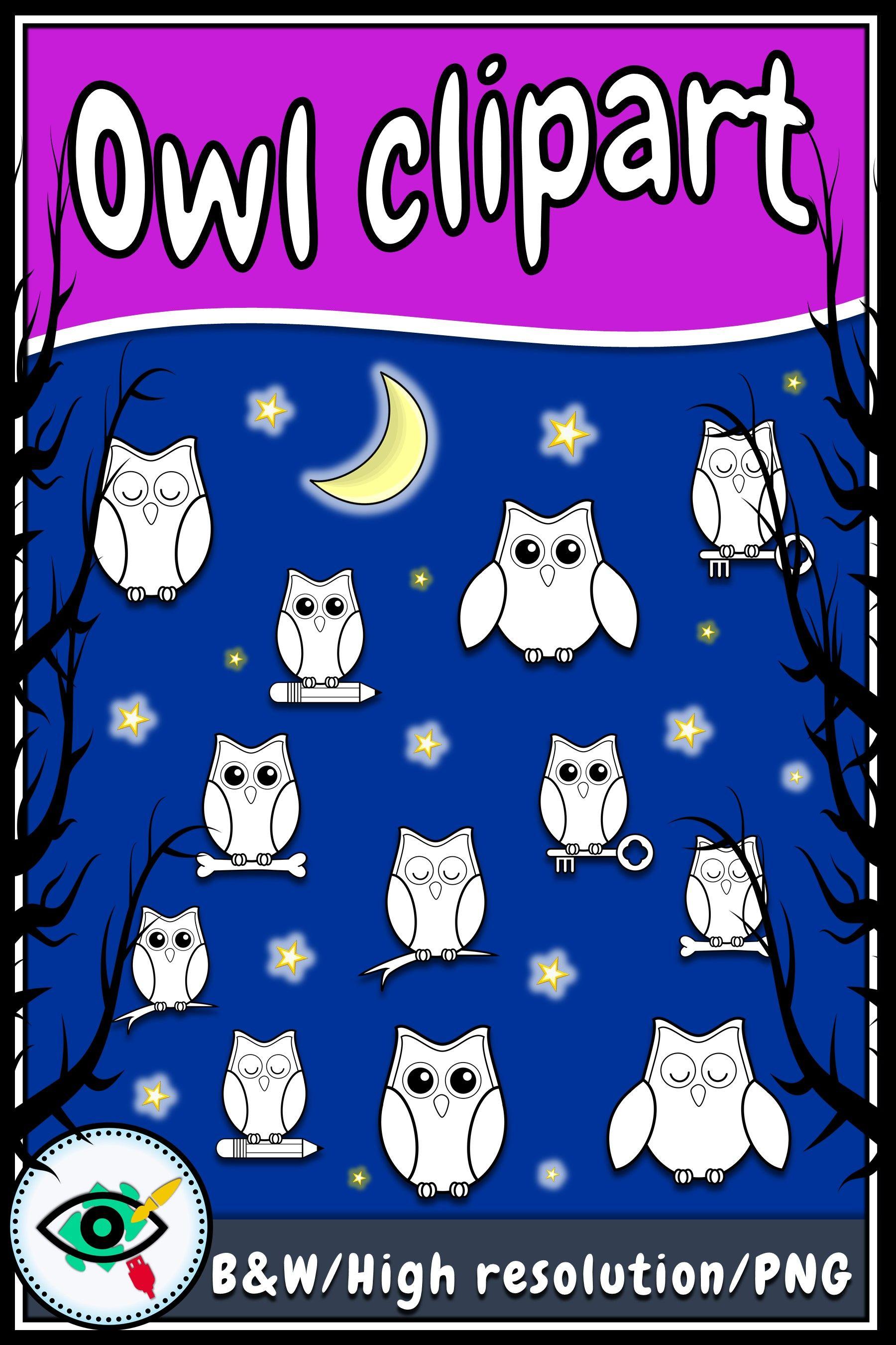Owl Black And White Clip Art