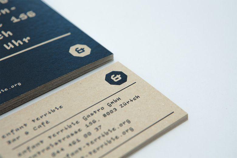 Studio Eusebio – Brand identity for Enfant Terrible bar and café in Zürich