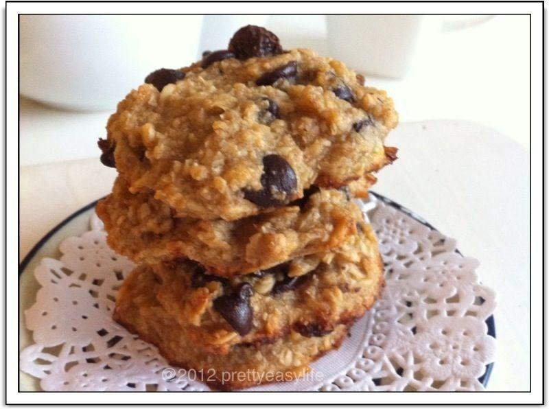Healthy Banana Oats And Chocolate Chip Cookies No Flour No Sugar