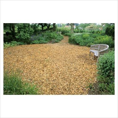 Bark Wood Chip Seating Area Put In Our Yard With Fire Pit And