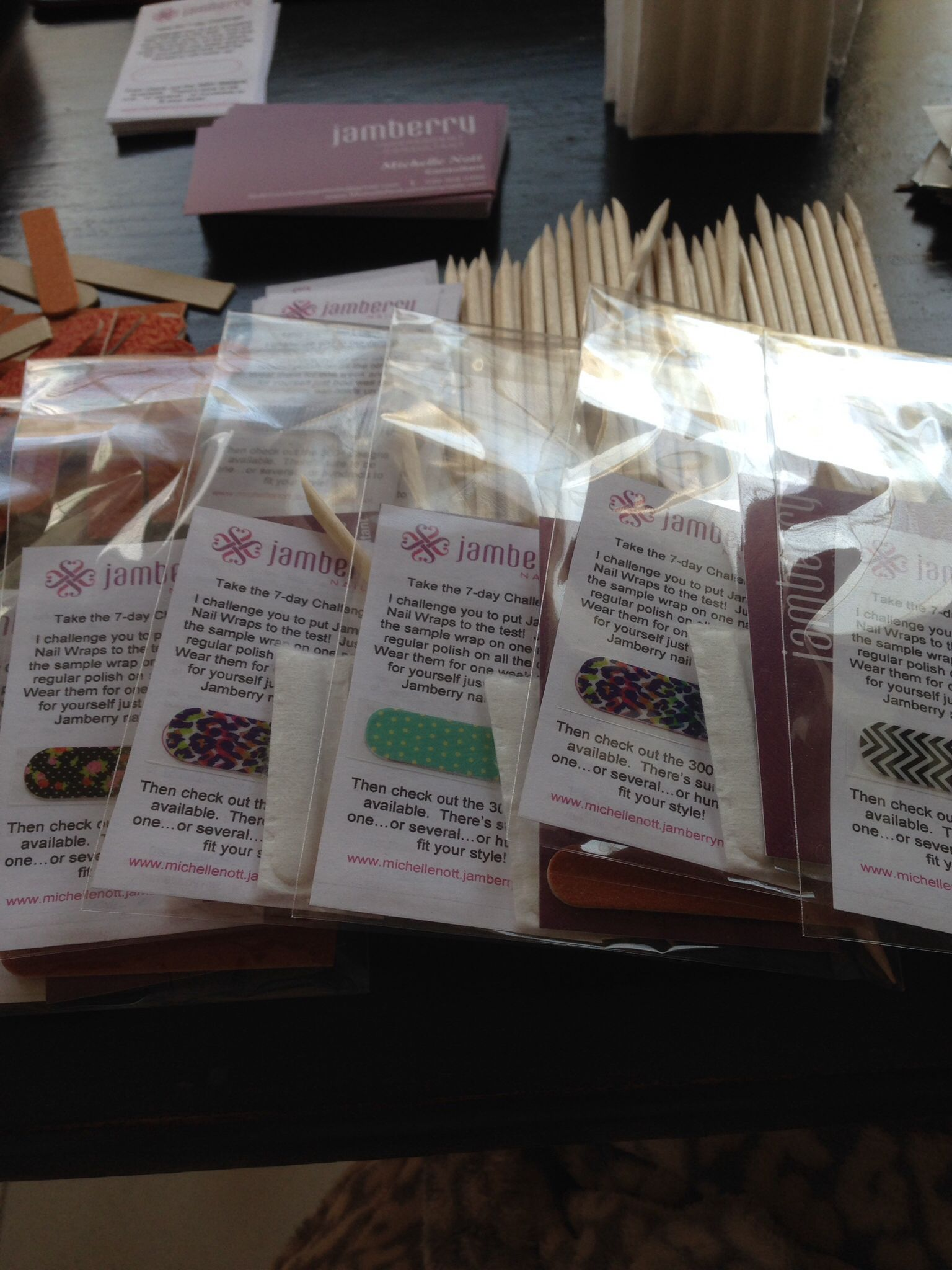 I'm getting Jamberry samples ready to mail out! Would you like one ...