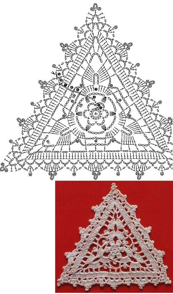 треугольные мотивы крючком схемы фото подольскую осудили