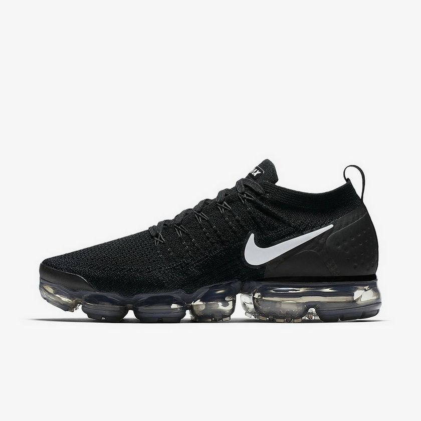 02987cfce357b Nike Air Vapormax Flyknit 2 942842001 Black Grey Metallic Silver Authentic  Sneaker