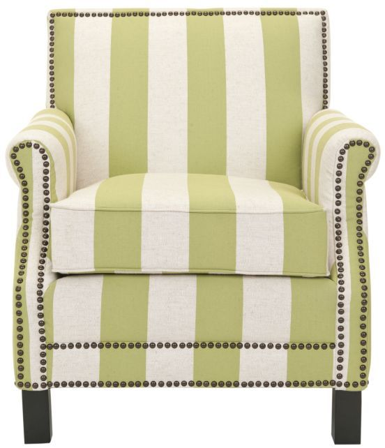 Safavieh Green Alicia Casual Upholstered Club Arm Chair