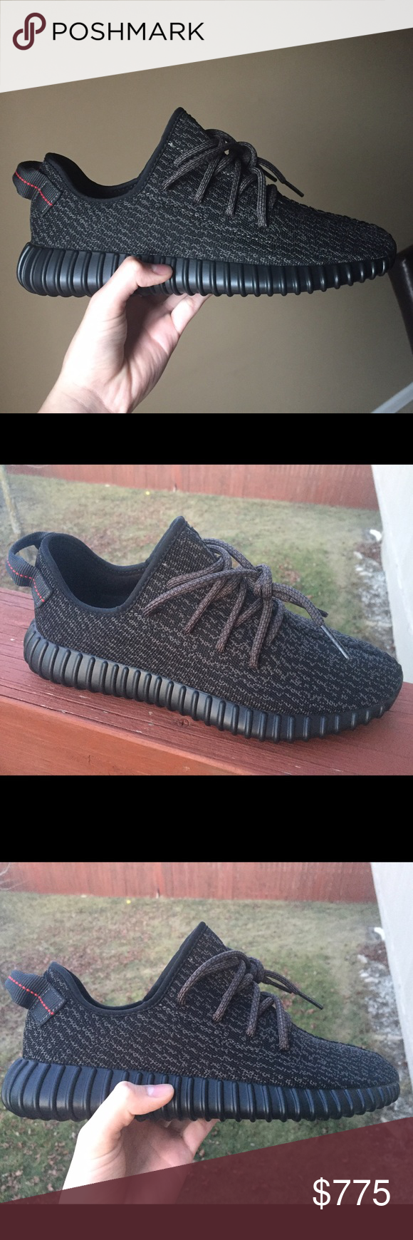 Yeezy Boost 350 Pirate Black size 9 100% Authentic DS in a size 9 fully authentic Yeezy Shoes Sneakers