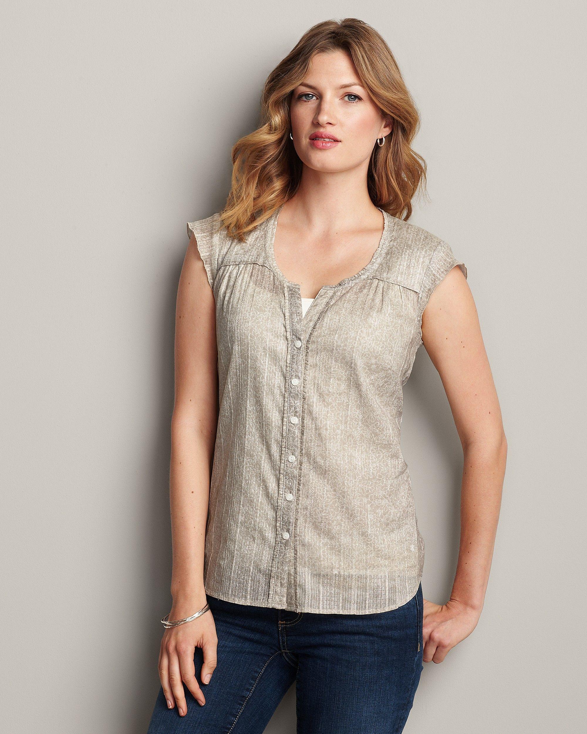 Printed Underpinning Shirt Eddie Bauer Tops, Clothes