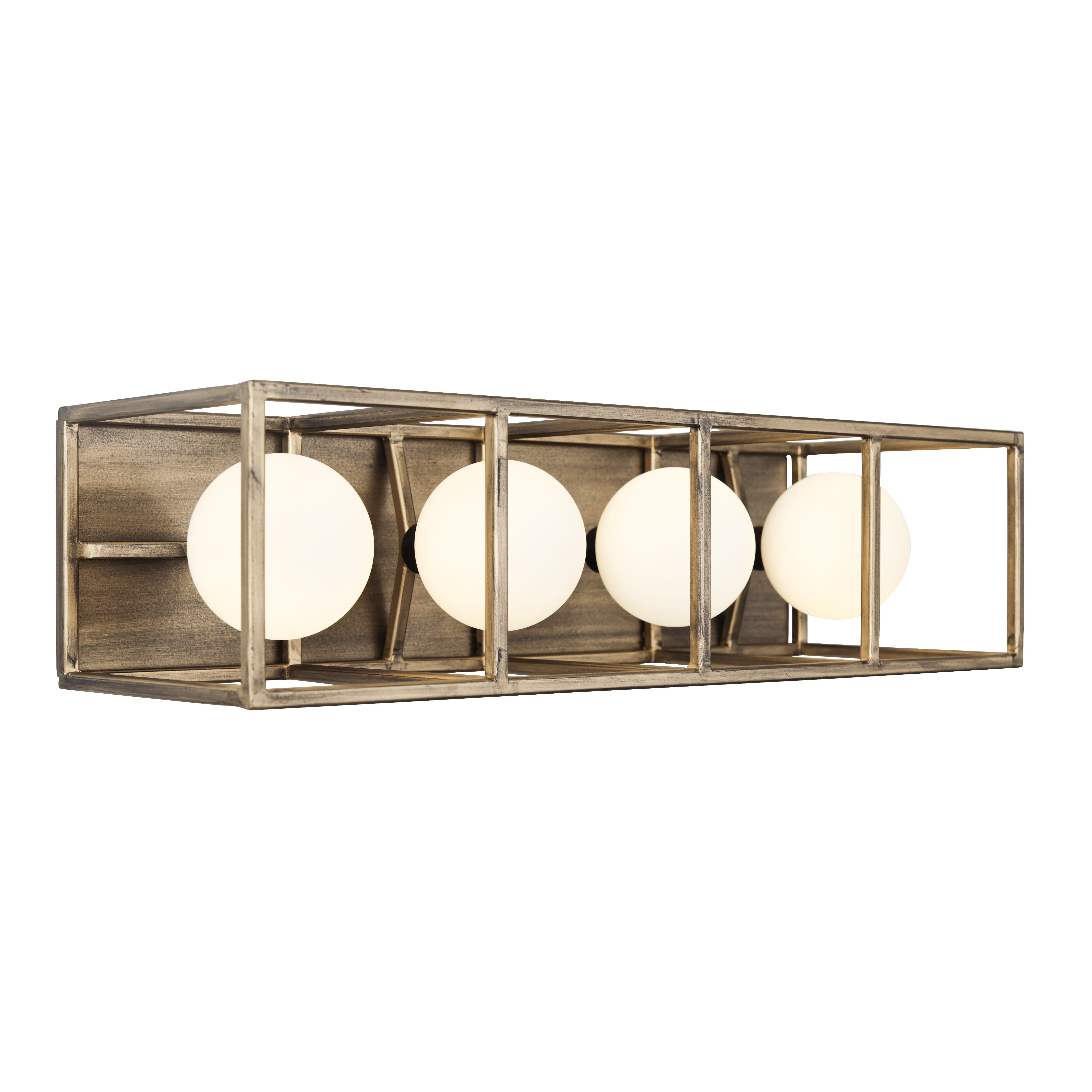 "Photo of Varaluz Plaza 4-Light 5 ""bathroom wash basin lamp in Havana gold with carbon"