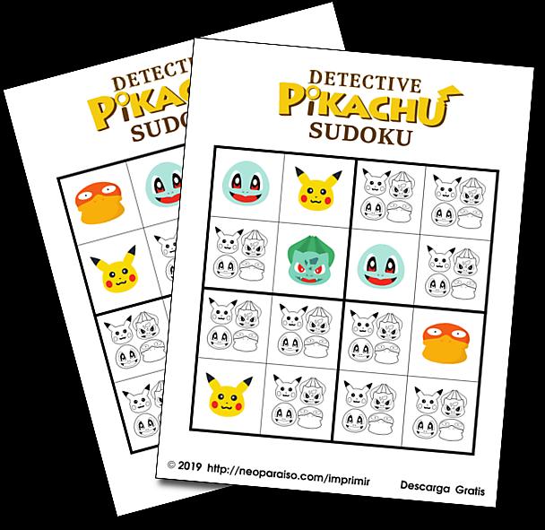 Personajes De Detective Pikachu Para Colorear Puzzles